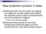 map projection process 2 steps
