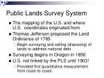 public lands survey system
