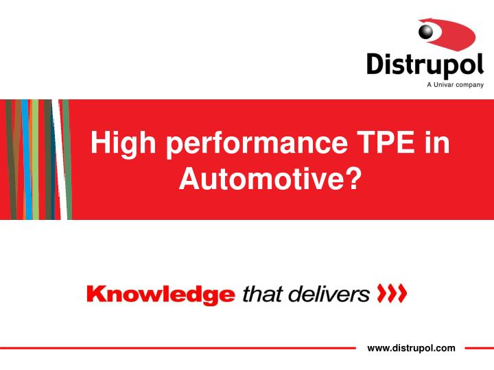 high performance tpe in automotive n.