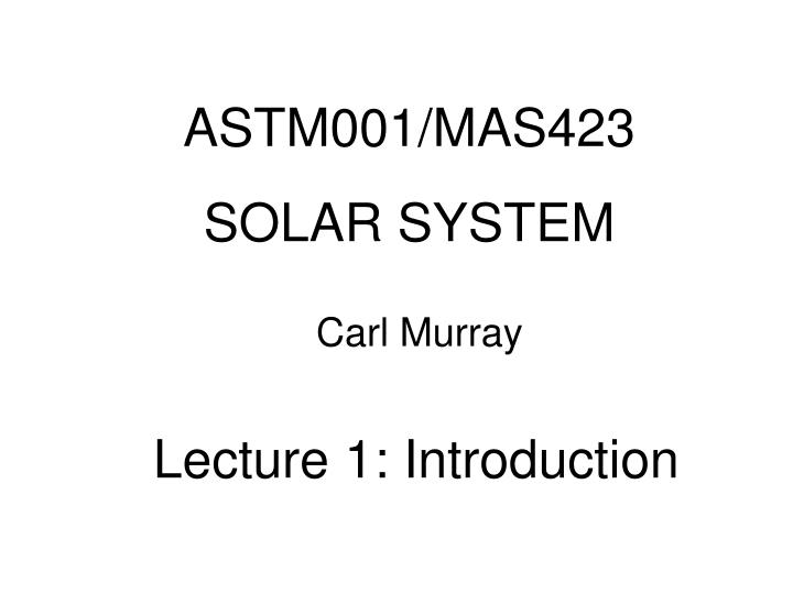 ASTM001/MAS423