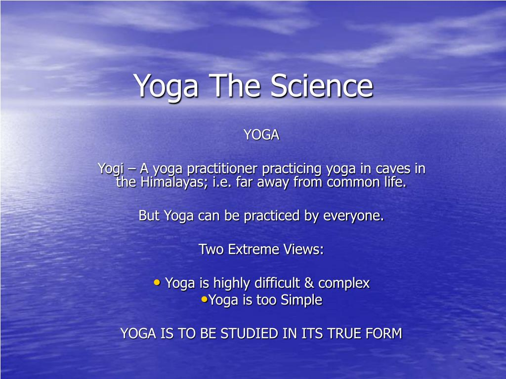 yoga the science l.