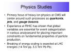 physics studies