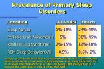 prevalence of primary sleep disorders