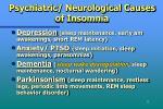 psychiatric neurological causes of insomnia