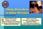 sleep disorders in older persons