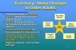 summary sleep changes in older adults