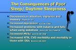 the consequences of poor sleep daytime sleepiness