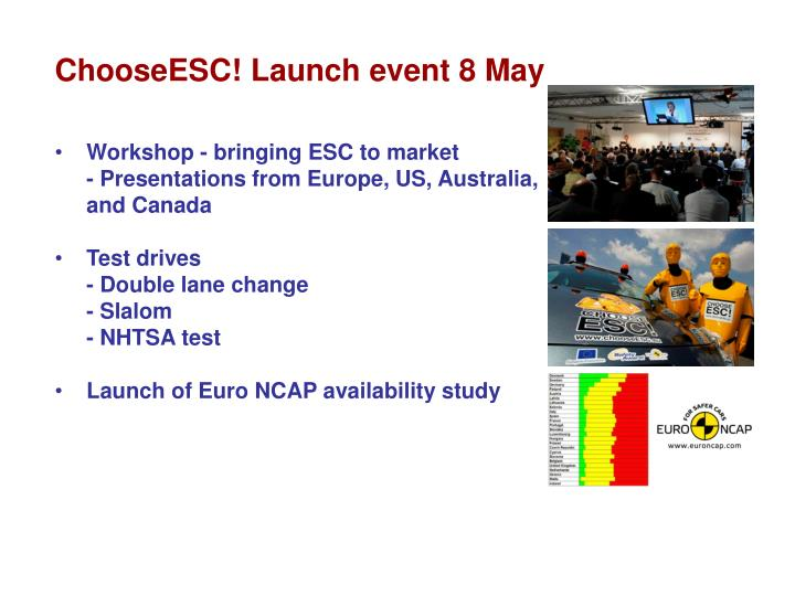 ChooseESC! Launch event 8 May