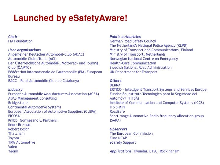 Launched by eSafetyAware!