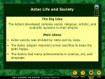aztec life and society