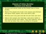 classes of aztec society farmers and slaves
