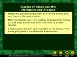 classes of aztec society merchants and artisans