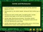 cort s and moctezuma