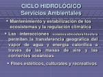 ciclo hidrol gico servicios ambientales1