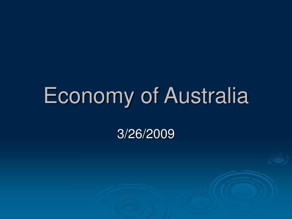 economy of australia l.
