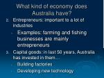 what kind of economy does australia have