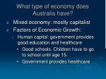 what type of economy does australia have