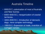 australia timeline
