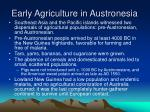 early agriculture in austronesia