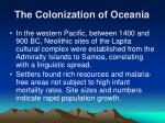 the colonization of oceania