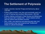 the settlement of polynesia