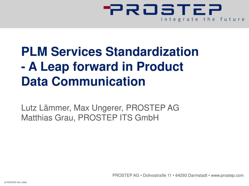 plm services standardization a leap forward in product data communication l.