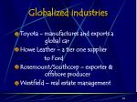 globalized industries