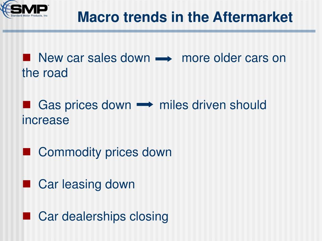 Macro trends in the Aftermarket