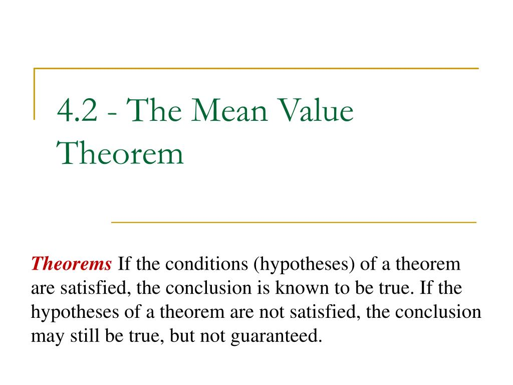4 2 the mean value theorem l.