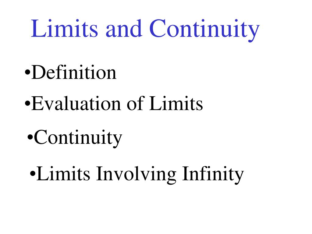 limits and continuity l.
