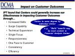 impact on customer outcomes