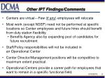 other ipt findings comments