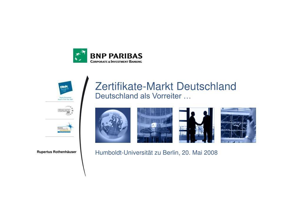 zertifikate markt deutschland deutschland als vorreiter l.