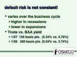default risk is not constant