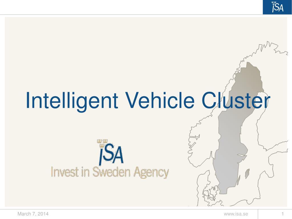 intelligent vehicle cluster l.