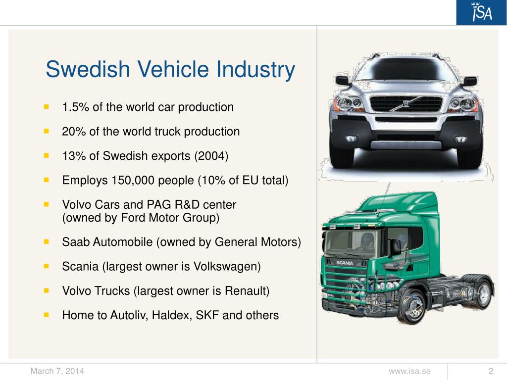 Swedish Vehicle Industry