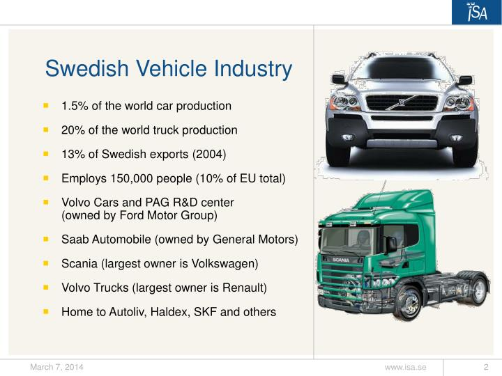 Swedish Vehicle Industry