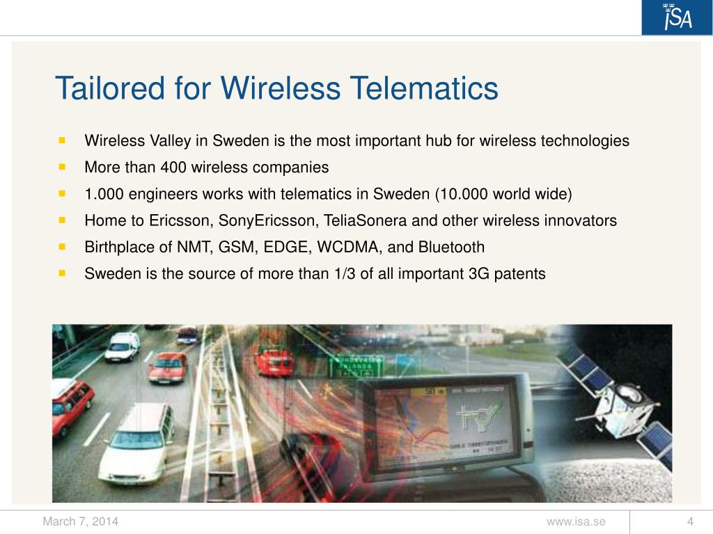 Tailored for Wireless Telematics