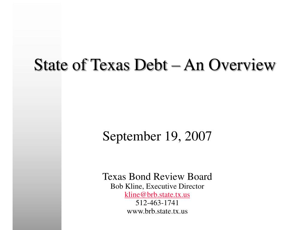 state of texas debt an overview l.
