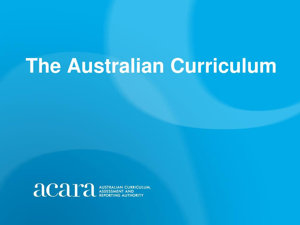 the australian curriculum l.