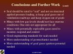 conclusions and further work24