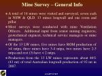 mine survey general info