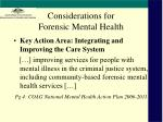 considerations for forensic mental health
