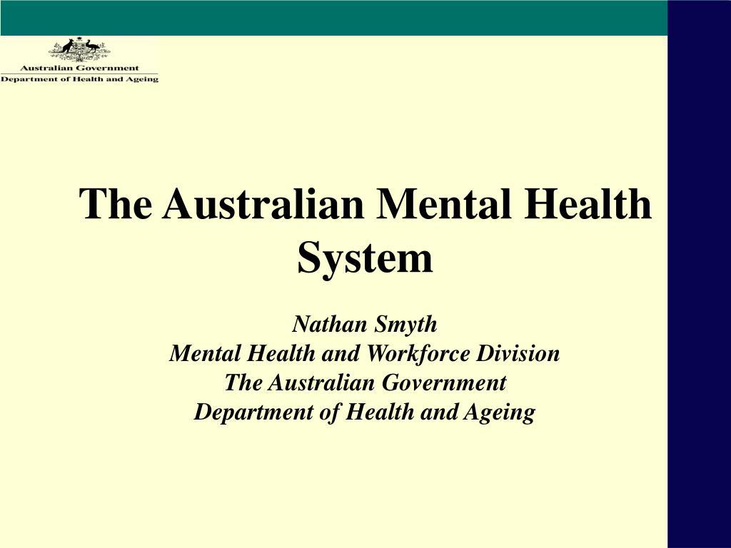 the australian mental health system l.