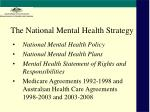 the national mental health strategy