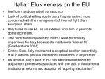 italian elusiveness on the eu29