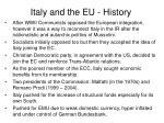 italy and the eu history