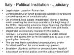 italy political institution judiciary