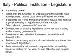 italy political institution legislature