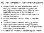 italy political processes parties and party systems22